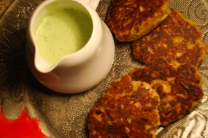 leek fritters also from Plenty